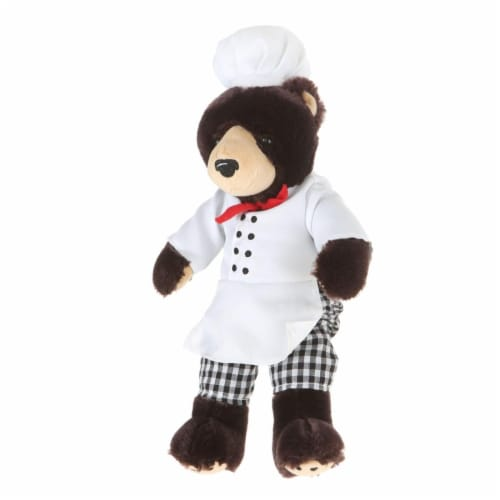 Giftable World A00042 10 in. Plush Bear Chef Perspective: front