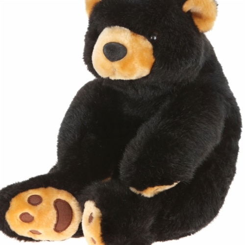 Giftable World B01021 21 in. Plush Bean Bear - Black Perspective: front