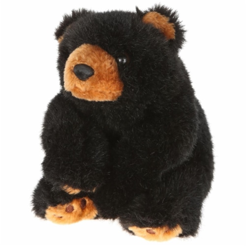 Giftable World B01022 8 in. Plush Bean Bear - Black Perspective: front