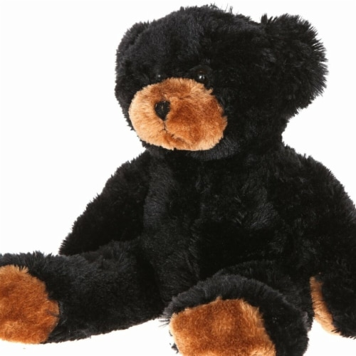 Giftable World B01023 15 in. Plush Bean Bear - Black Perspective: front
