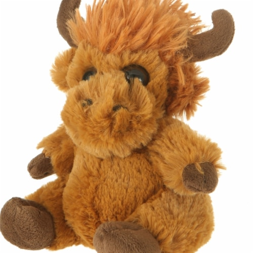 Giftable World A05027 7 in. Plush Mop Top Moose Perspective: front