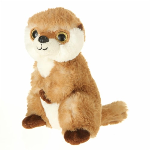 Giftable World A00062 7 in. Plush Big Eyes Standing Marmot Perspective: front