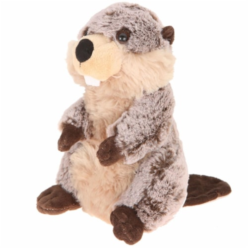 Giftable World A08069 8 in. Plush Standing Beaver Perspective: front