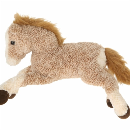 Giftable World A09002 16 in. Plush Horse - Light Brown Perspective: front