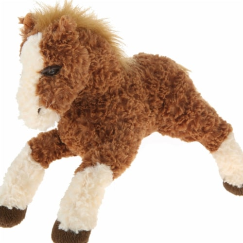 Giftable World A09003 11 in. Plush Horse - Dark Brown Perspective: front