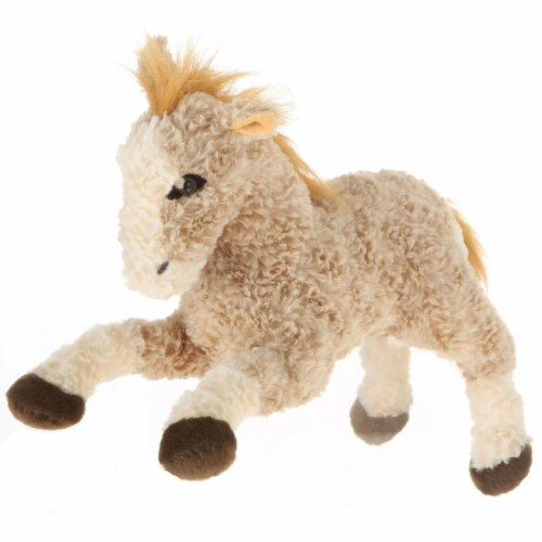 Giftable World A09004 11 in. Plush Horse - Light Brown Perspective: front