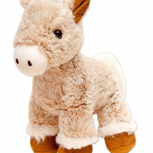 Giftable World A09033 10 in. Plush Horse - Brown Perspective: front