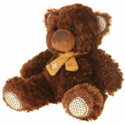 Giftable World A01001 13 in. Plush Bear - Brown Perspective: front