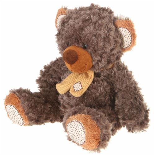 Giftable World A01006 10 in. Plush Bear - Gray Brown Perspective: front