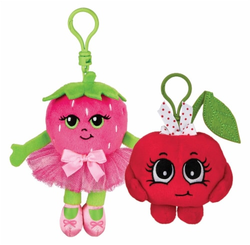 Whiffer Sniffer Strawberry Twirl & Cheri Cherri Scented Backpack Clip Combo Pack Perspective: front