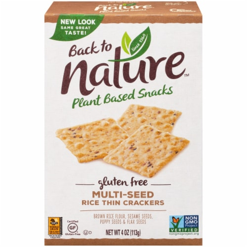Back to Nature Gluten-Free Multi-Seed Rice Thin Crackers Perspective: front