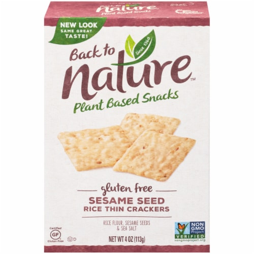 Back to Nature Gluten-Free Sesame Seed Rice Thin Crackers Perspective: front