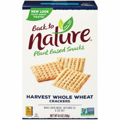 Back to Nature Harvest Whole Wheat Crackers Perspective: front