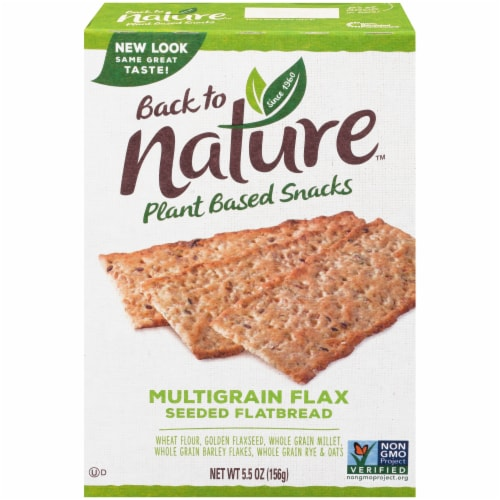 Back to Nature Multigrain Flax Seeded Flatbread Crackers Perspective: front