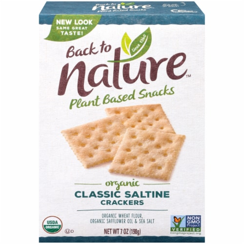 Back to Nature Organic Saltine Crackers Perspective: front