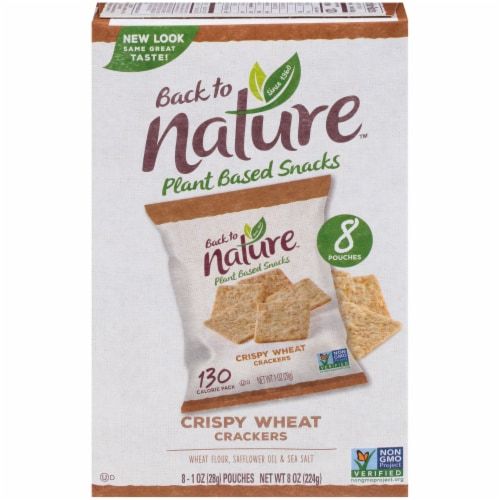 Back to Nature Crispy Wheat Crackers Perspective: front