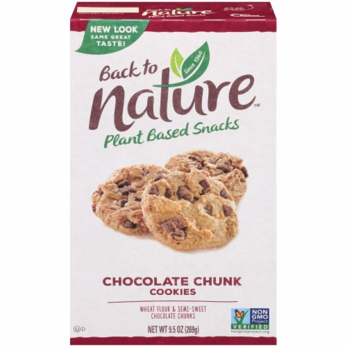 Back to Nature Plant Based Chocolate Chunk Cookies Perspective: front