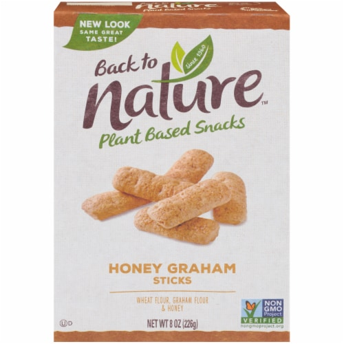 Back to Nature Honey Graham Sticks Perspective: front