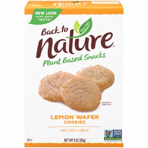 Back to Nature Lemon Wafer Cookies Perspective: front