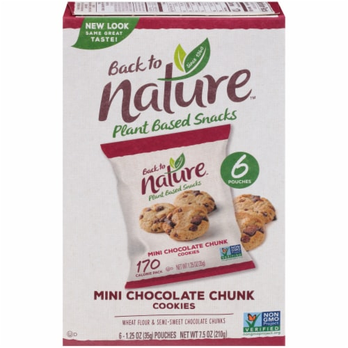 Back To Nature Mini Chocolate Chunk Cookie Pouches Perspective: front