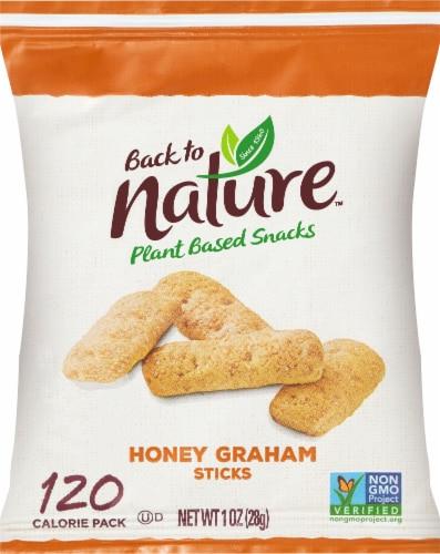 Back to Nature Honey Graham Sticks Plant Based Snacks Perspective: front