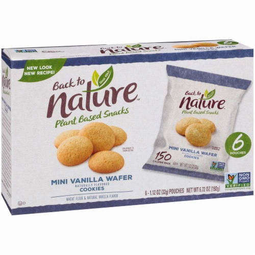 Back To Nature Madagascar Wafers Whole Grain Wheat Flour Vanilla - Case of 4 - 1.12 oz Perspective: front