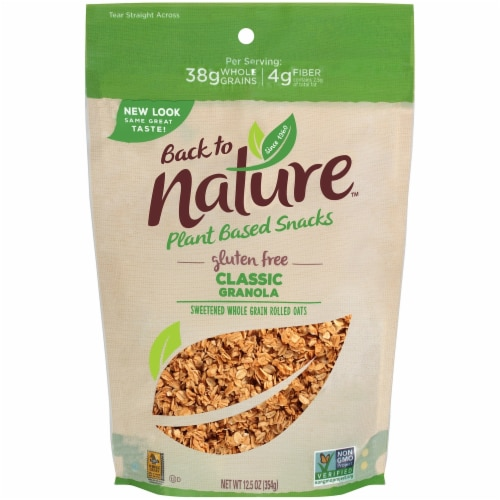 Back to Nature Plant Based Classic Granola Perspective: front
