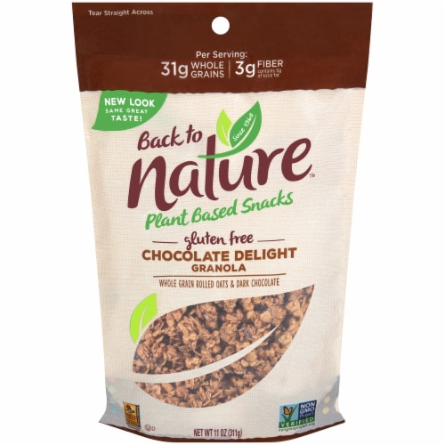Back to Nature Gluten Free Chocolate Delight Granola Perspective: front