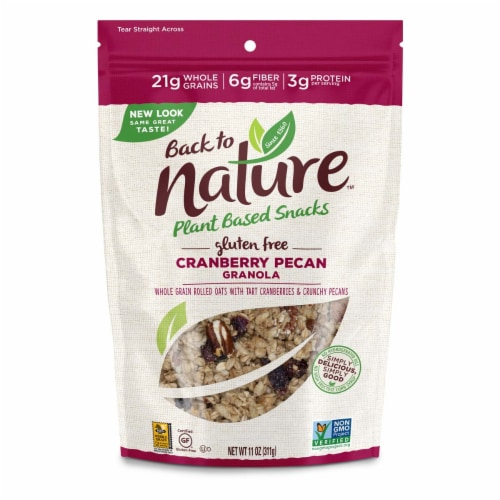Back to Nature Gluten-Free Cranberry Pecan Granola Perspective: front