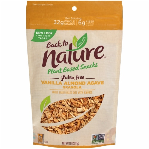 Back to Nature Plant Based Vanilla Almond Agave Granola Perspective: front