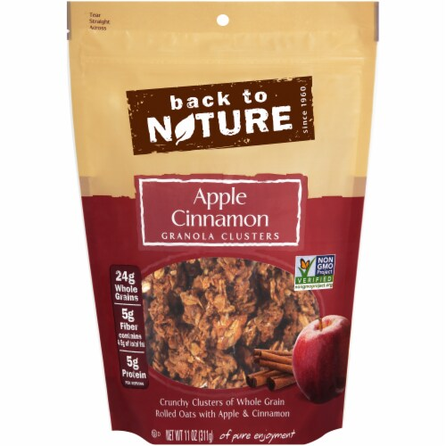 Back To Nature Apple Cinnamon Granola Clusters Perspective: front