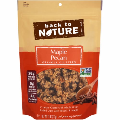 Back To Nature Maple Pecan Granola Clusters Perspective: front