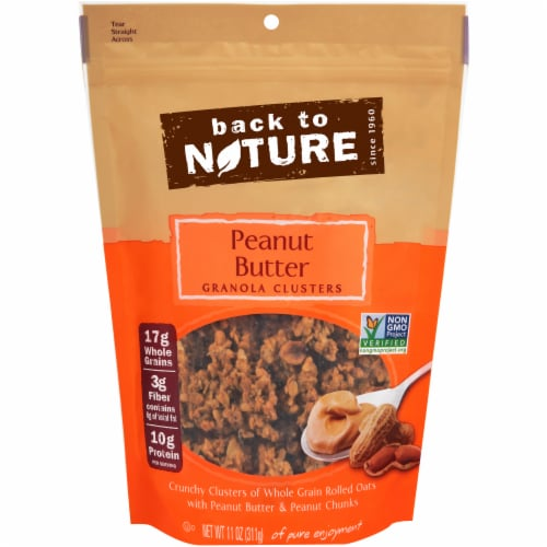 Back to Nature Peanut Butter Granola Clusters Perspective: front