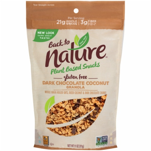 Back to Nature Dark Chocolate Coconut Granola Perspective: front