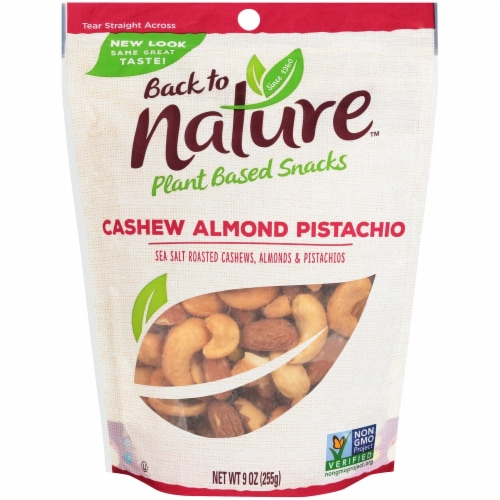 Back To Nature Sea Salt Roasted Cashew Almond Pistachio Blend Perspective: front