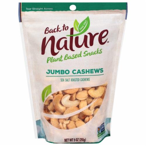 Back To Nature Plant Based Jumbo Sea Salt Roasted Cashews Perspective: front