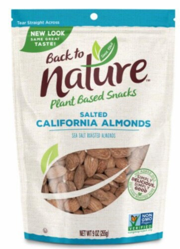 Back To Nature Salted California Almonds Perspective: front