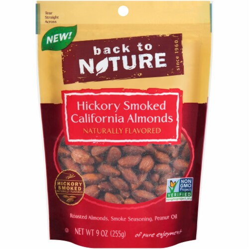 Back to Nature Hickory Smoked Almonds Perspective: front