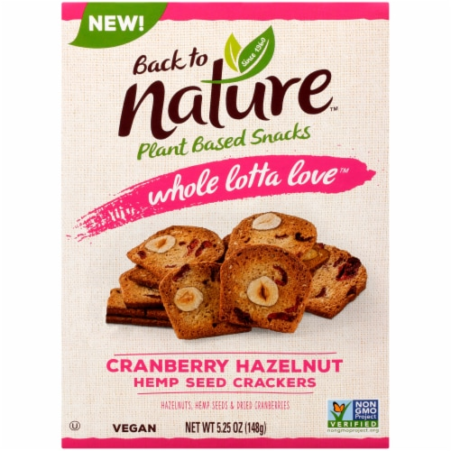 Back to Nature Whole Lotta Love Cranberry Hazelnut Crackers Perspective: front