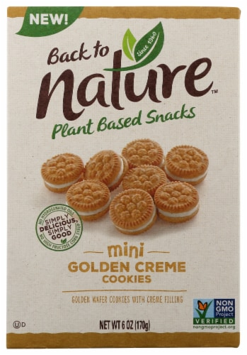 Back to Nature™ Plant Based Mini Golden Creme Cookies Perspective: front