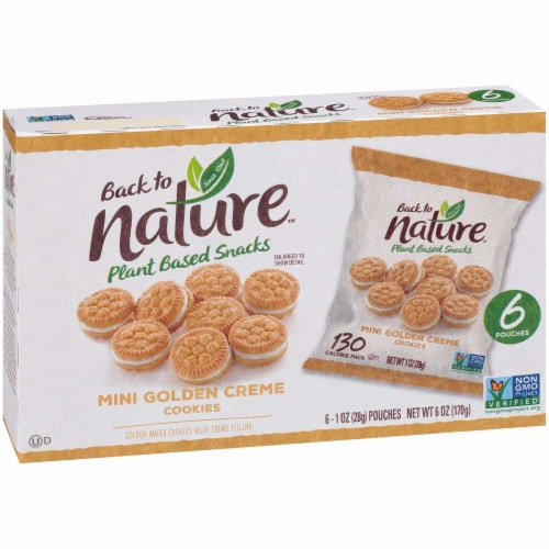 Back to Nature™ Mini Golden Creme Cookies Perspective: front
