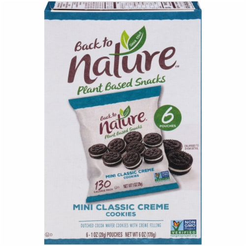 Back to Nature™ Plant Based Mini Classic Creme Cookies Perspective: front
