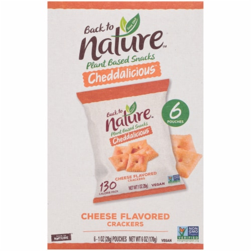 Back to Nature Cheddalicious Cheese Flavored Crackers Perspective: front