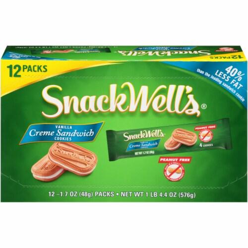 Snackwell's Vanilla Cream Sandwich Cookies 12 Count Perspective: front