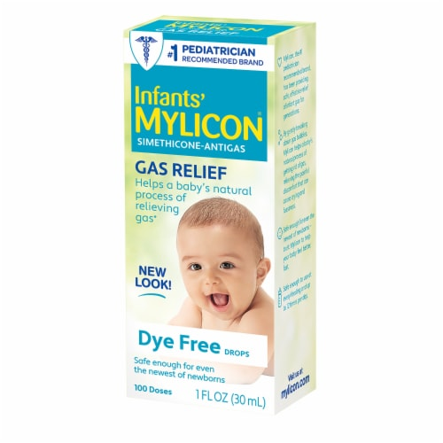 Mylicon Infant Gas Relief Dye Free Drops Perspective: front