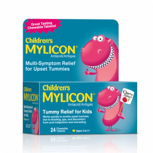 Mylicon Children's Tummy Relief Chewable Tablets Perspective: front