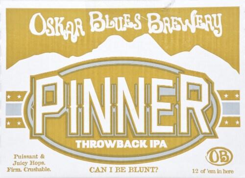 Oskar Blues Throwback Pinner IPA Perspective: front