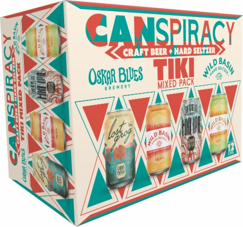 CANarchy Canspiracy Craft Beer + Hard Seltzer Tiki Mixed Pack Variety Pack Perspective: front