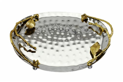 INOX artisans Hammered Vine Tray Perspective: front