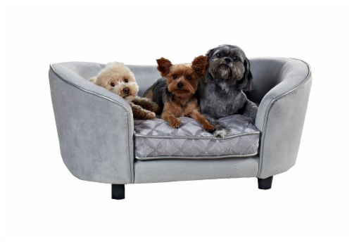 Enchanted Home Pet Quiksilver Sofa - Silver Perspective: front